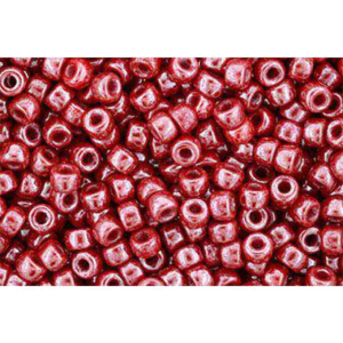 Perles de rocaille Matubo  6/0  4.1x2.9mm  luster coral red (x50g)