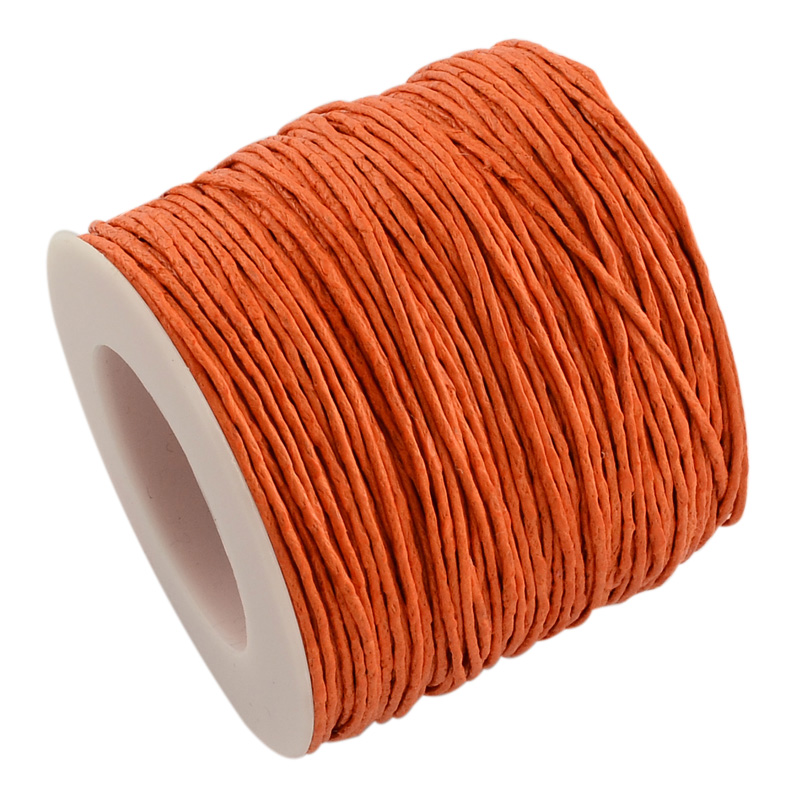 Cordon coton ciré Ø 1mm orange foncé