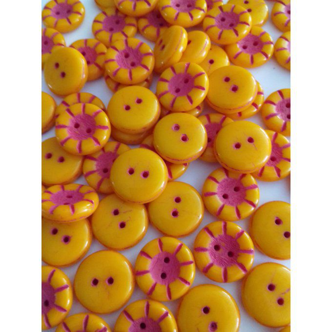 Perle de verre de Bohème   Button Orange Opaque 5x14mm
