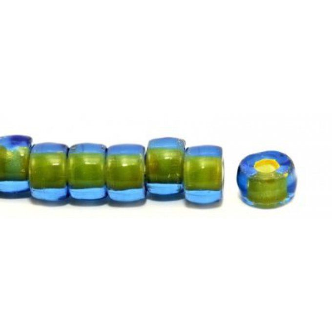 "Roller bead 9x6.5mm ""grand trou""  couleur 30050/44886"