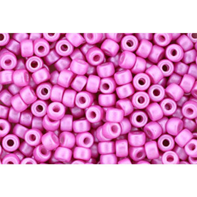 Perles de rocaille Matubo  6/0  4.1x2.9mm  Pearl shine light fuschia (x10g)