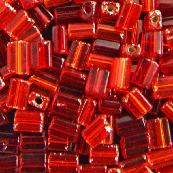Preciosa Oblong Bead Mix, Red 5 x 3.5 mm (x20g)