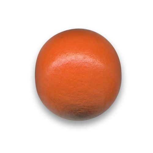 Perle ronde en bois Ø 25mm couleur orange