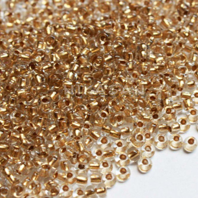 Rocaille Preciosa  11/0  Gold lined crystal (x20g)