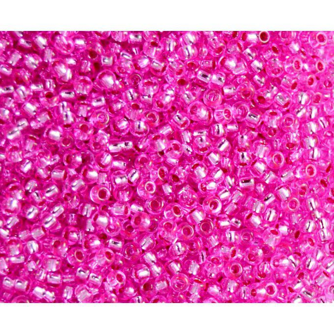 Rocaille Preciosa  11/0  Dark pink lined crystal  (x20g)