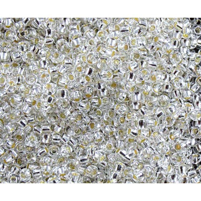 Rocaille Preciosa  11/0  Silver lined crystal (x20g)