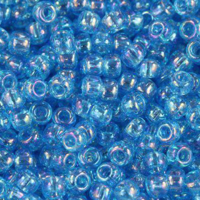3 Blue Toho 11//0 rocaille 2,2 mm 10 G 20 G Transparent Bleu Brillant Code